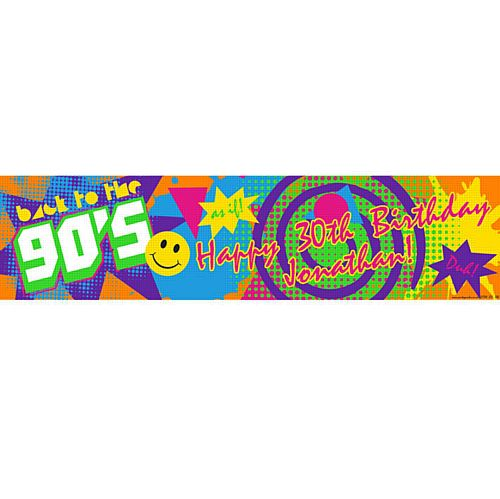 1990's Personalised Banner - 1.2m