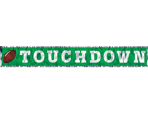 American Football Touchdown Metallic Fringe Banner - 1.5m
