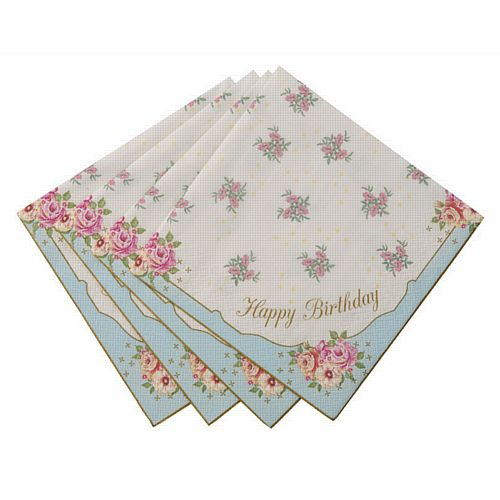 Truly Scrumptious Happy Birthday Napkins - 33cm - Pack of 20
