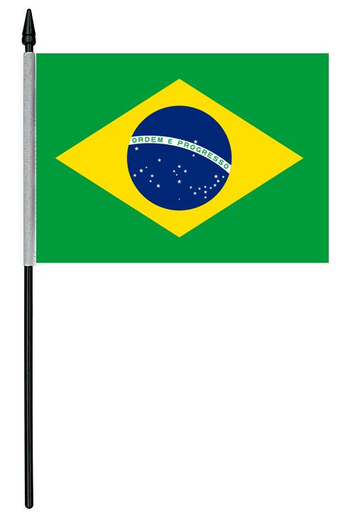 "Brazil Cloth Table Flag - 4"" x 6"""