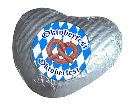 Oktoberfest Heart Chocolates - Silver- Pack 24