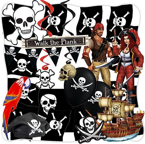 Standard Pirate Party Decoration Pack