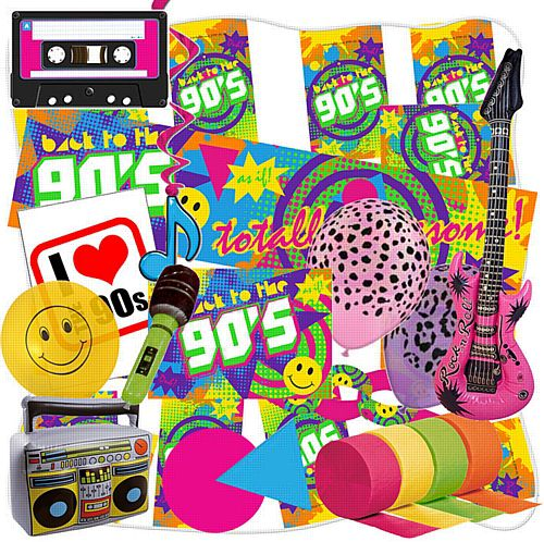 90's Standard Decoration Party Decoration Pack