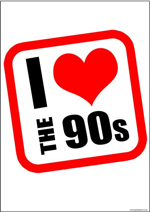 I Heart The 90s Poster - A3