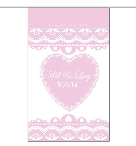 10m Personalised 'Hearts' Interior Bunting- Pink