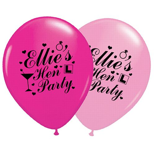 Add Your Name Personalised Balloons - Pack of 50 - Hen Party
