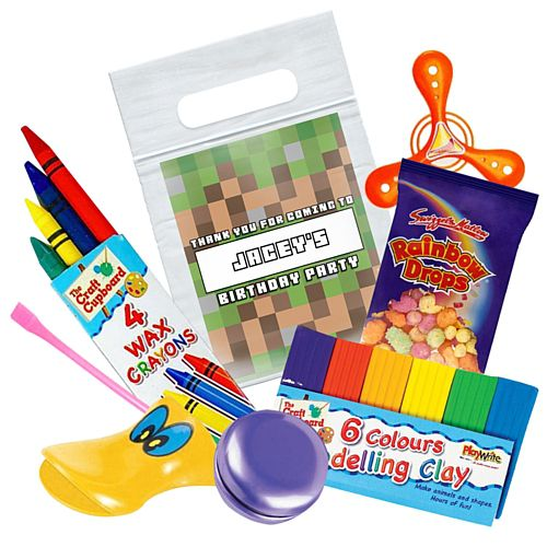 Pixel Blocks Personalised Clear Sealable Bag - With Contents