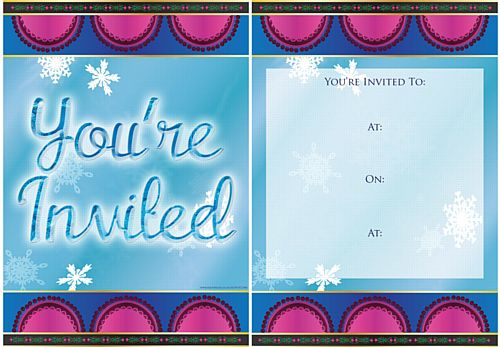 Icy Tales Invites - Pack of 8