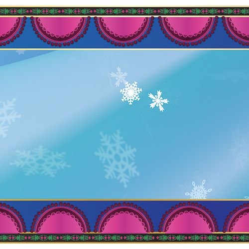 Icy Tales Paper Table Runner - 120cm x 30cm