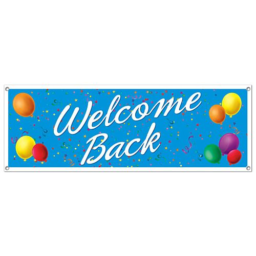 Welcome Back Sign Banner - 1.52m