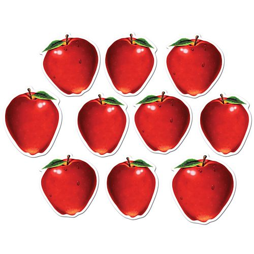 Mini Apple Cutouts - 10.2cm - Pack of 10