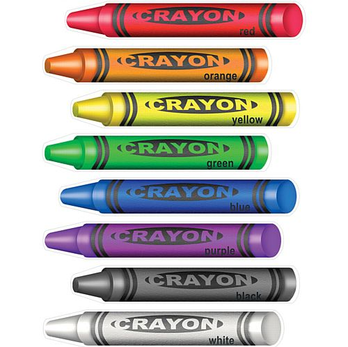 Peel 'n' Place Crayons - 43cm - Pack of 8