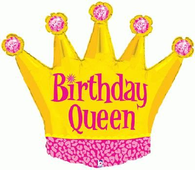 Click to view product details and reviews for Birthday Queen Foil Balloon 36.