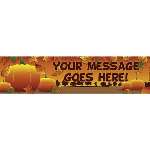 Thanksgiving Personalised Banner - 1.2m