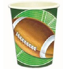 American Football Paper Cups - Pack of 8