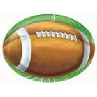 American Football Shaped Party Plates - Pack of 8