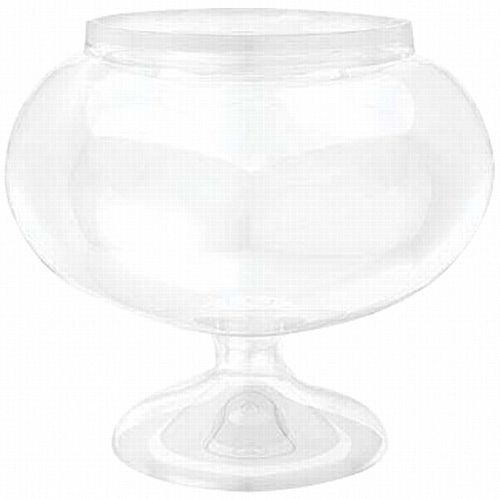 Round Plastic Sweet Jar on Stand - 15.8cm