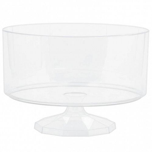 Clear Plastic Trifle Bowl - 19cm