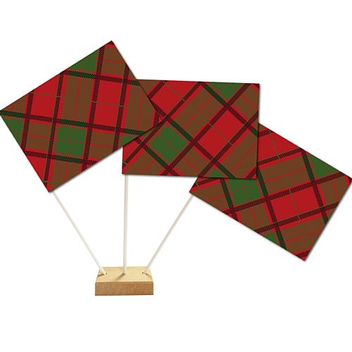 "Tartan Red Table Flag - 6"" on 10"" Pole - Each"
