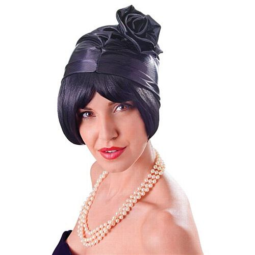 Black Cloche 1920s Hat