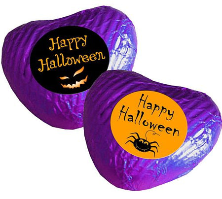 Click to view product details and reviews for Halloween Heart Chocolates Purple Pack 24.
