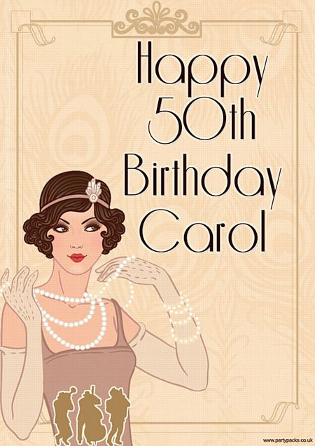 Click to view product details and reviews for 1920s Personalised Poster A3.