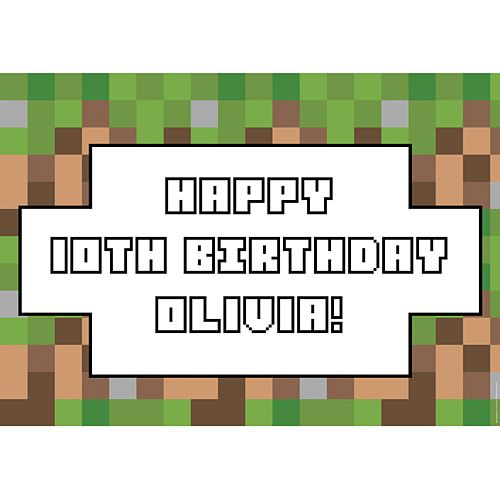 Pixel Blocks Personalised Poster - A3