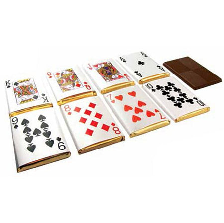 Playing Cards Chocolate - 5.5cm - 8.5g - Each