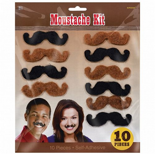 Western Moustaches- Pack 10