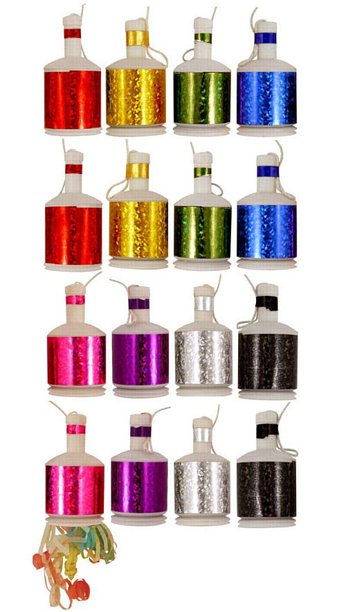 Multicolour Holographic Party Poppers - Pack of 20
