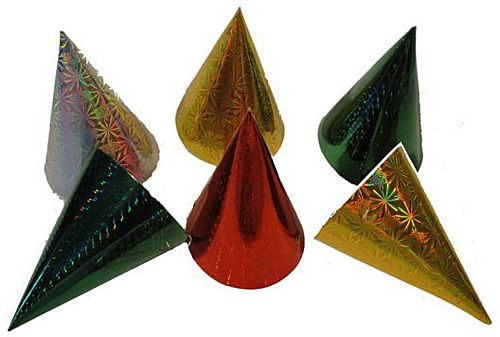 Christmas Cone Party Hats - 16cm