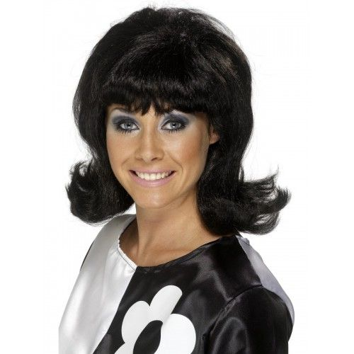 60'S Flick-Up Wig, Black