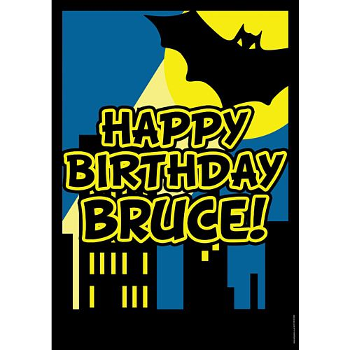Bat Hero Personalised Poster - A3
