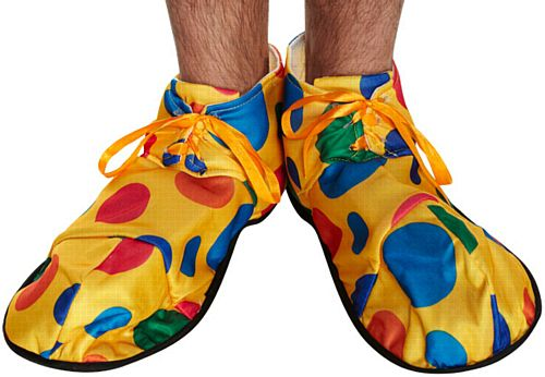 Yellow Polka Dot Clown Shoes