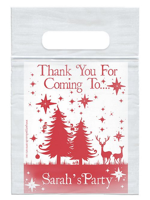 Personalised Wonderful Christmas Card Insert With Sealed Party Bag - Each