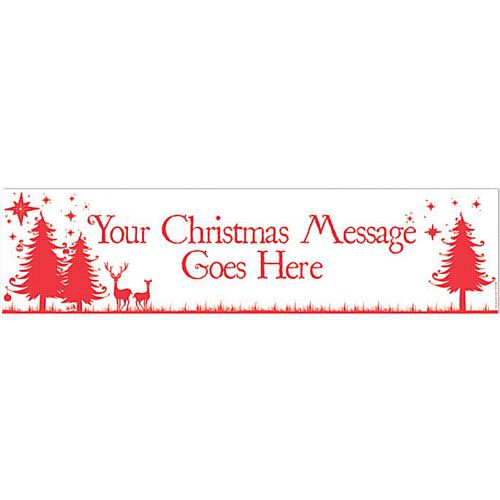 Wonderful Christmas Personalised Banner - 1.2m