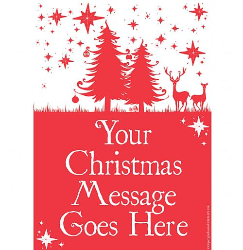 Wonderful Christmas Personalised Poster- A3