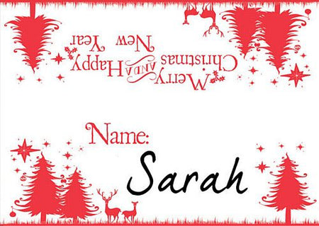 Wonderful Christmas Placecards - Pack of 8