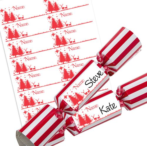 Wonderful Christmas Personalised Christmas Cracker Labels - Sheet of 14
