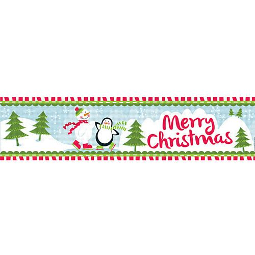 Christmas Winter Wonderland 'Merry Christmas' Banner - 1.2m