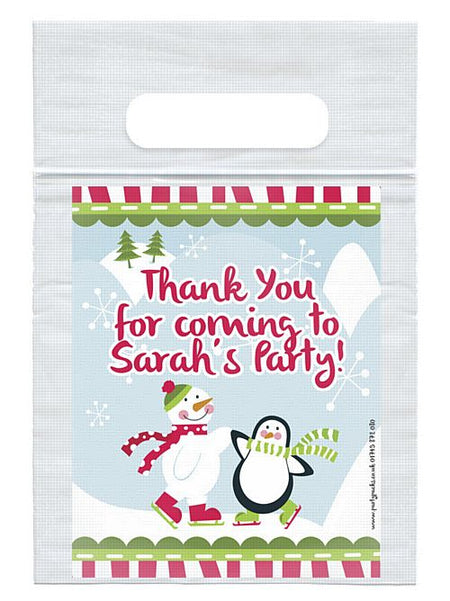 Personalised Christmas Winter Wonderland Card Insert With Sealed Party Bag - Each