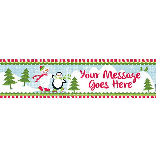 Christmas Winter Wonderland Personalised Banner - 1.2m
