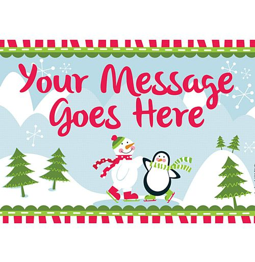 Christmas Winter Wonderland Personalised Poster -A3