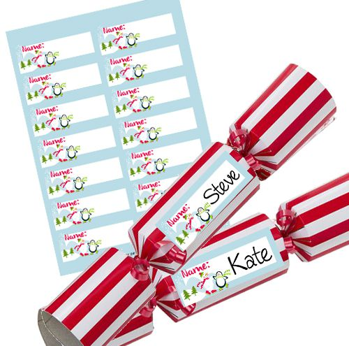 Winter Wonderland Personalised Christmas Cracker Labels - Sheet of 14