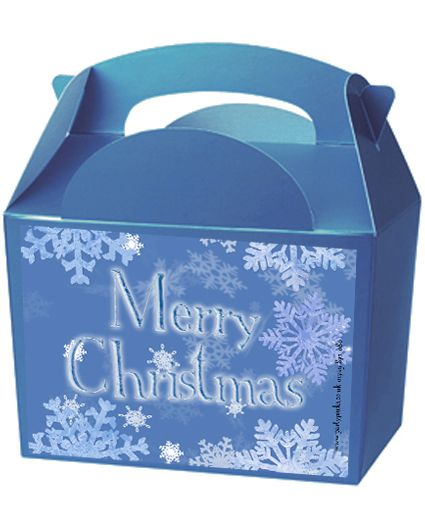 Frosty Snowflakes Party Box Kit - Pack of 4