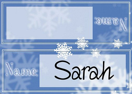 Frosty Snowflakes Placecards - Pack of 8