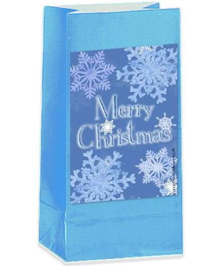 Frosty Snowflakes Party Bag Kit - Pack of 12