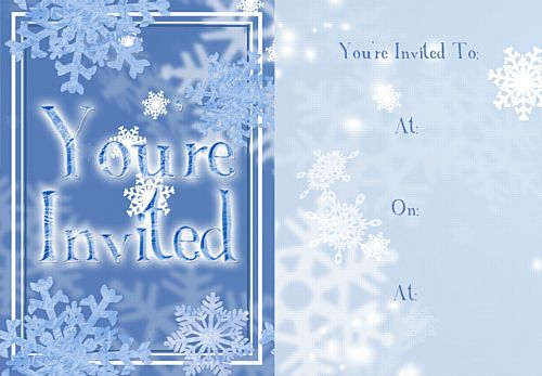 Frosty Snowflakes Invites - Pack of 8