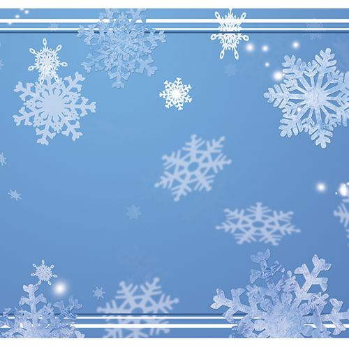 Frosty Snowflakes Paper Table Runner - 120cm x 30cm