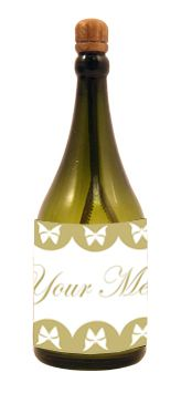 Personalised Champagne Bubbles - Butterfly - Pack of 16